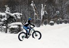 Lodowy Jechać na rowerze na wzgórzach Zdjęcia Royalty Free