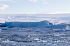 Lodowy jeziorny zima sezonu krajobrazu tło Obraz Stock