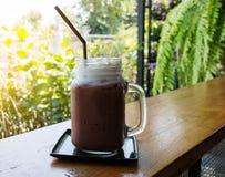 Lodowy kakao na barze obraz royalty free