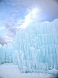 Lodowy kasztel i niebo w New Hampshire Zdjęcie Royalty Free