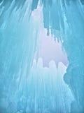 Lodowy kasztel i niebo w New Hampshire Fotografia Royalty Free