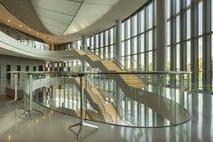 Lodowy Krakow Kongresowy Centre w Polska Zdjęcia Stock