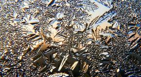 Lodowy kryształ na nadokiennej tafli obrazy royalty free