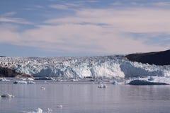 Lodowy lodowiec Greenland Obrazy Stock