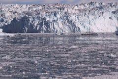 Lodowy lodowiec Greenland Fotografia Royalty Free