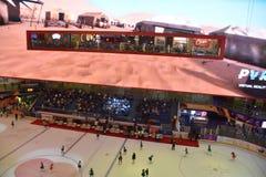 Lodowy lodowisko przy Dubaj centrum handlowym w Dubaj, UAE obraz stock