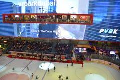Lodowy lodowisko przy Dubaj centrum handlowym w Dubaj, UAE obraz royalty free