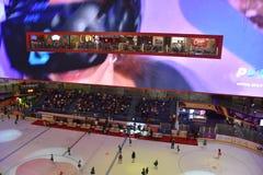Lodowy lodowisko przy Dubaj centrum handlowym w Dubaj, UAE zdjęcie royalty free