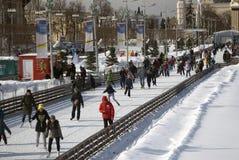 Lodowy lodowisko przy VDNHA parkiem w Moskwa obraz royalty free