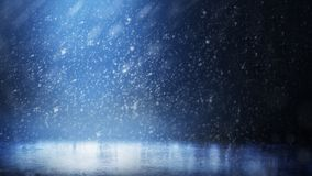 Lodowy lodowisko w śnieżnym ciemnym tle fotografia royalty free