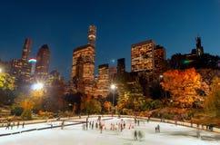 Lodowy lodowisko w central park, Miasto Nowy Jork fotografia royalty free