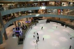 Lodowy lodowisko w centrum handlowym obraz royalty free