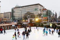 Lodowy lodowisko w Monachium Fotografia Royalty Free