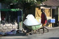 Lodowy mężczyzna Limbe, Haiti Obraz Royalty Free