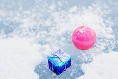 lodowy śnieg Fotografia Stock