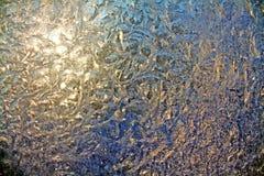 lodowy okno obraz royalty free