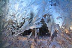 lodowy okno fotografia stock