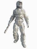 lodowy żołnierz piechoty morskiej przestrzeni wojownik Fotografia Royalty Free