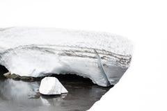 Lodowy pławik w Norwegia obraz royalty free