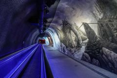 Lodowy pałac Jungfraujoch stacja fotografia stock