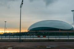 Lodowy pałac ` Bolshoi ` Sochi Olimpijski park zdjęcia stock