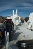 lodowy pokoju znaka śnieg Zdjęcie Royalty Free