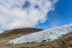 Lodowy przód Svartisen lodowiec w Norwegia Zdjęcie Stock