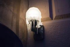 Lodowy Sconce: South End Zdjęcie Royalty Free
