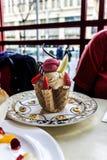 lodowy sundae kremy Obrazy Royalty Free