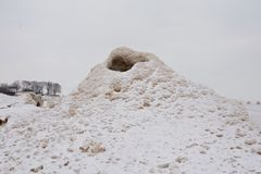 Lodowy wulkan Fotografia Royalty Free