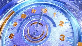 Lodowy zegaru 3d nowego roku odliczanie royalty ilustracja