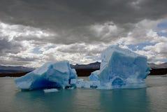 lodowych gór lodowych argentino lake niedaleko upsala Zdjęcie Royalty Free