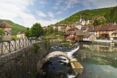 Lods mała wioska w dolinie loue fotografia stock