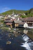 Lods y el río Doubs, el Jura Fotografía de archivo libre de regalías