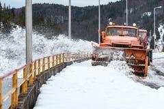 Lodu & śniegu Grobelny czyścić zdjęcia stock