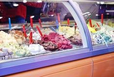 lodu kremowy sklep Fotografia Stock