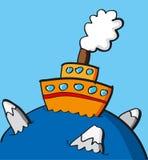 lodu statek Zdjęcie Stock