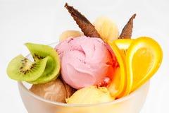 Lody deser z owoc Obraz Royalty Free