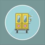 Lody furgonu płaska wektorowa ilustracja Obraz Royalty Free