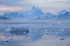 Lody i g?ry lodowe zdjęcia royalty free
