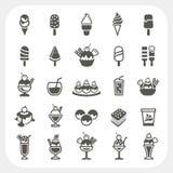 Lody ikony ustawiać Obraz Royalty Free