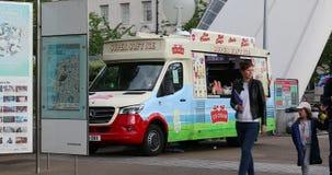 Lody jedzenia ciężarówka W Londyn zbiory wideo