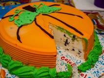 Lody pomarańcze tort Obraz Royalty Free