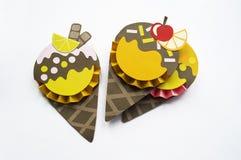 Lody robić papier Ręcznie robiony deser Lato jest gorący Obraz Royalty Free