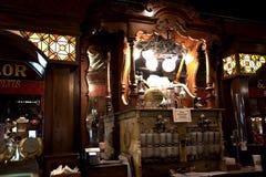 Lody salon przy Casey Jones domem Historycznym linii kolejowej muzeum w Jackson &, Tennessee obraz stock