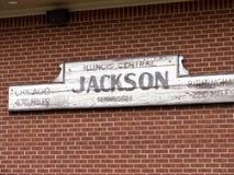 Lody salon przy Casey Jones domem Historycznym linii kolejowej muzeum w Jackson &, Tennessee zdjęcia stock