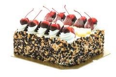 Lody tort z wiśnią na wierzchołku Obraz Royalty Free