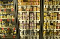 Lody w sklepie spożywczym Zdjęcie Royalty Free