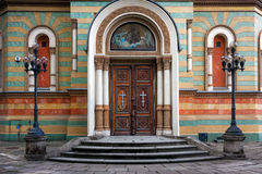 Lodz, Alexander Nevsky Church entrance Royalty Free Stock Photos