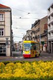 Lodz City Tram, Liberty Square Stock Photography